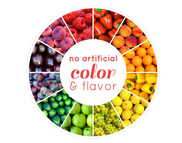 No artificial colour & flavour