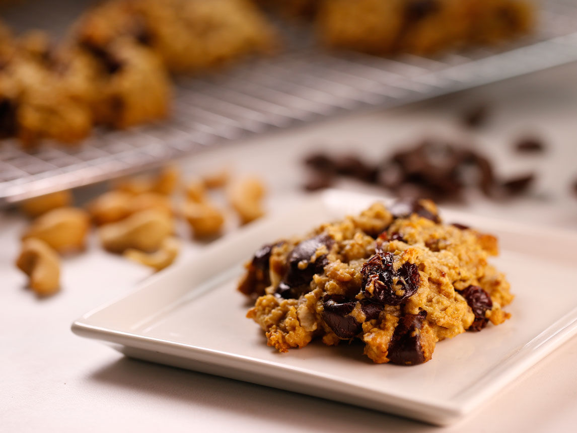 Silk Cashew Cherry Chip Breakfast Cookies