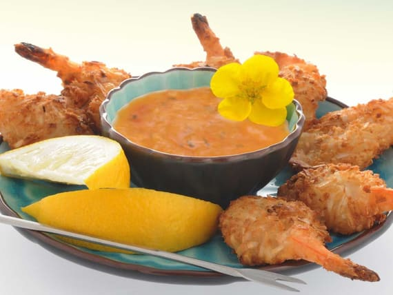 Silk Recipes: Baked Coconut Shrimp with Spicy Dipping Sauce | Silk