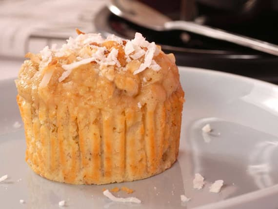 Dairy-Free Toasted Coconut Pumpkin Muffins