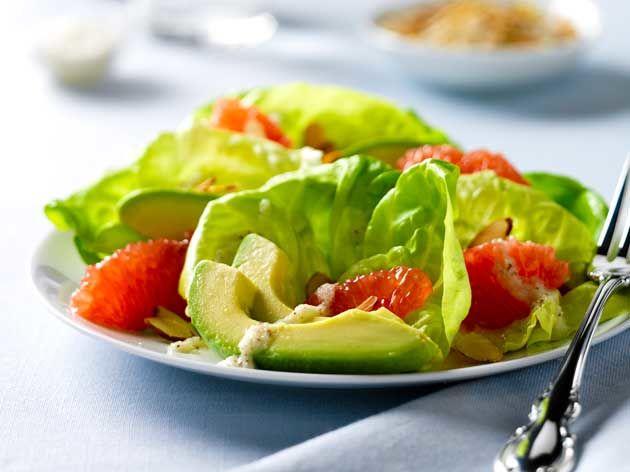 Avocado-Grapefruit Salad with Creamy Onion Dressing