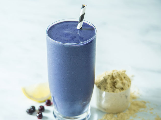 Blueberry Vanilla Yogurt Smoothie