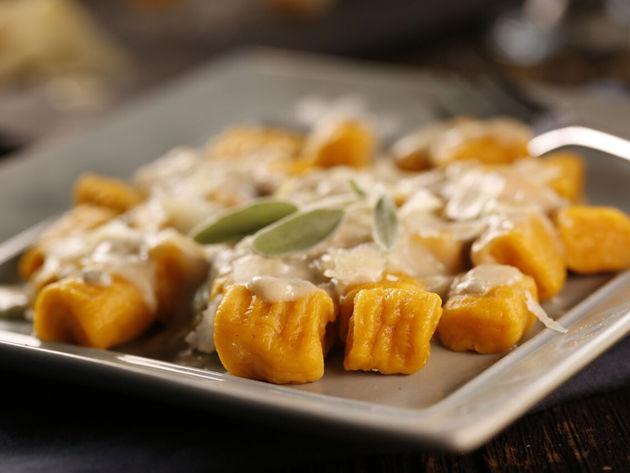 Sweet Potato Gnocchi with Sage Cream Sauce