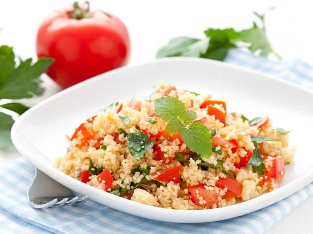 Couscous Salad with Mint and Feta