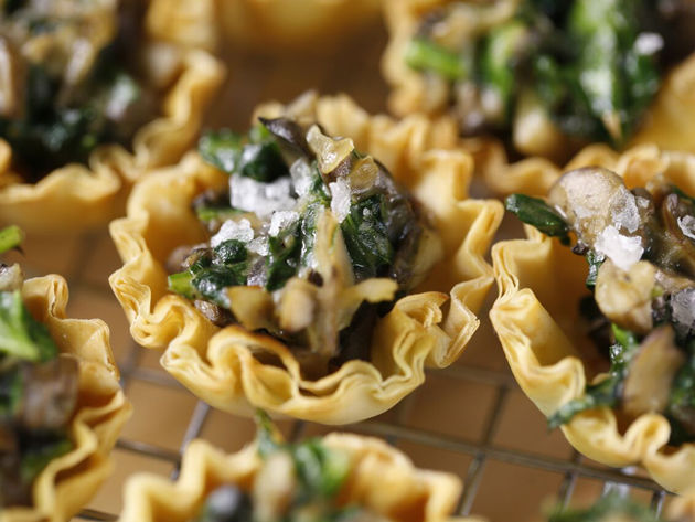 Silk Spinach Mushroom Filo Cups