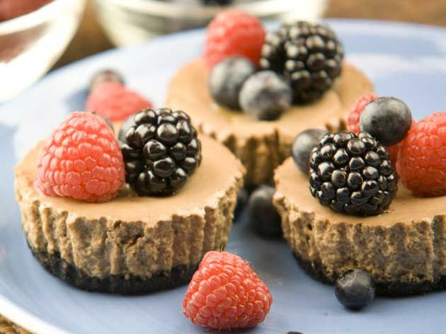 Espresso Chocolate Cheesecakes
