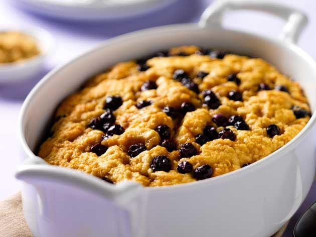 Poor Man's Pudding with Blueberries