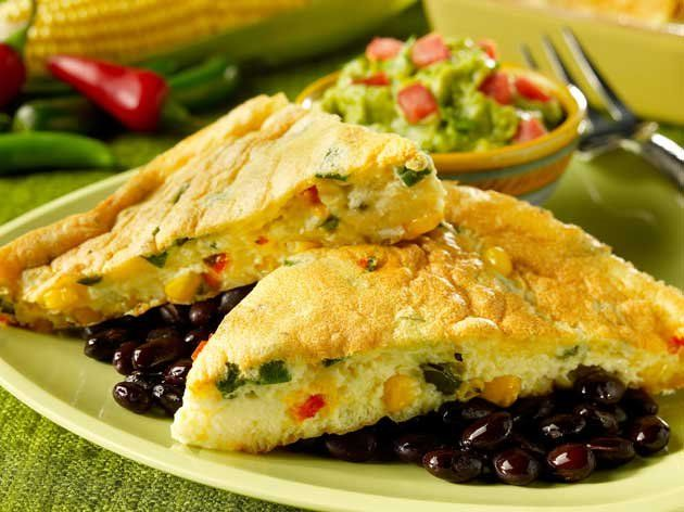 Savoury Corn Quiche with Green Chiles and Green Onions